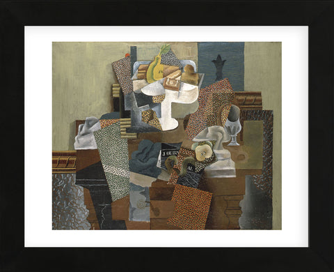 Still Life with Compote and Glass, Winter 1914-15 (Framed) -  Pablo Picasso - McGaw Graphics