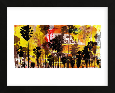 Sunset and Palms 2 (Framed) -  Sven Pfrommer - McGaw Graphics