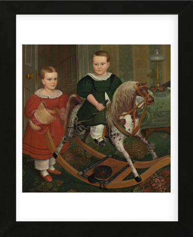 The Hobby Horse, ca. 1840 (Framed) -  Robert Peckham - McGaw Graphics