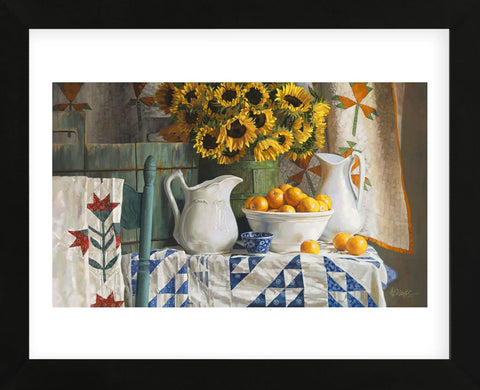 Calico with Sunflowers (Framed) -  Heide Presse - McGaw Graphics