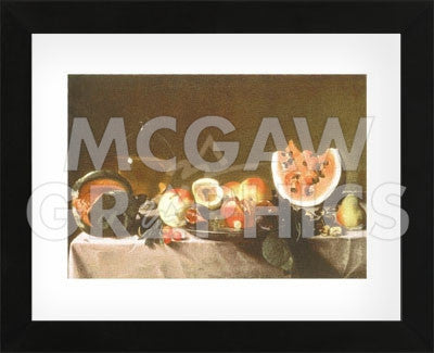 Still Life with Fruit and Carafe  (Framed) -  Carlo Saraceni - McGaw Graphics