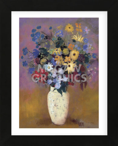 Vase of Flowers, 1914  (Framed) -  Odilon Redon - McGaw Graphics