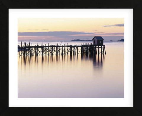 Old Wharf at Dawn  (Framed) -  Paul Rezendes - McGaw Graphics