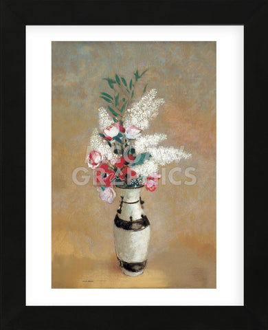 Vase of Flowers, ca. 1912-14  (Framed) -  Odilon Redon - McGaw Graphics