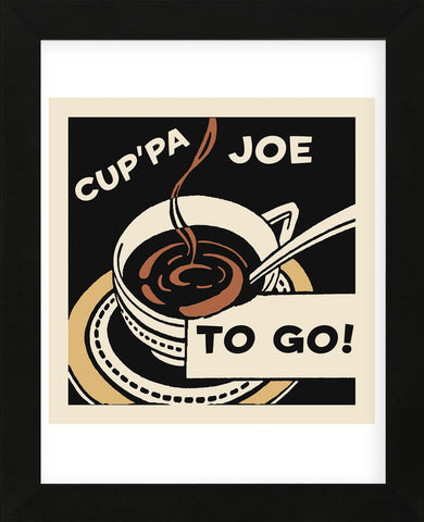 Cup'pa Joe to Go  (Framed) -  Retro Series - McGaw Graphics