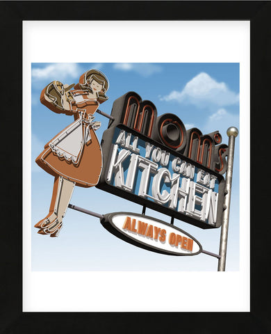 Mom's All-You-Can-Eat Kitchen (Framed) -  Anthony Ross - McGaw Graphics
