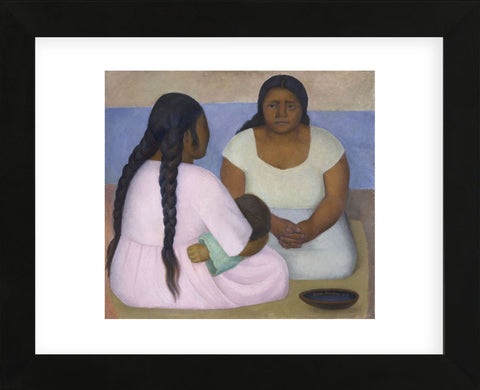 Two Women and a Child  (Framed) -  Diego Rivera - McGaw Graphics