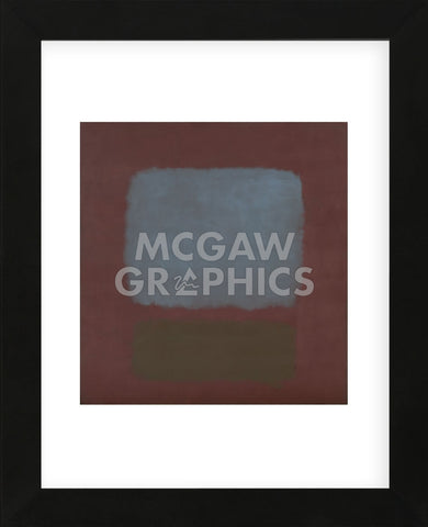 No. 37/No. 19 (Slate Blue and Brown on Plum), 1958  (Framed) -  Mark Rothko - McGaw Graphics