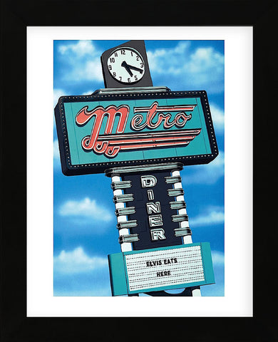 Metro Diner  (Framed) -  Anthony Ross - McGaw Graphics