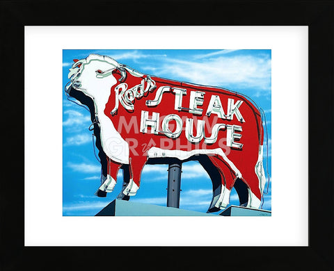 Rod's Steakhouse  (Framed) -  Anthony Ross - McGaw Graphics