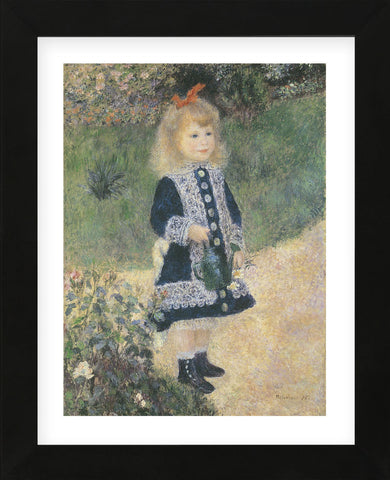 Girl with Watering Can  (Framed) -  Pierre-Auguste Renoir - McGaw Graphics