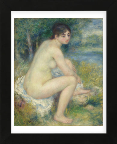 Nude in a Landscape, 1883 (Framed) -  Pierre-Auguste Renoir - McGaw Graphics