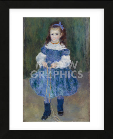Girl with a Jump Rope (Portrait of Delphine Legrand), 1876 (Framed) -  Pierre-Auguste Renoir - McGaw Graphics