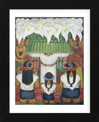 Flower Festival: Feast of Santa Anita, 1931  (Framed) -  Diego Rivera - McGaw Graphics