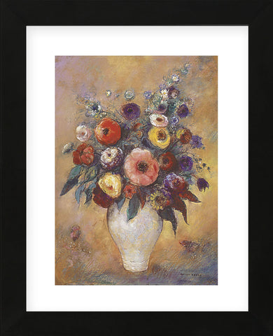 Vase of Flowers, 1912  (Framed) -  Odilon Redon - McGaw Graphics