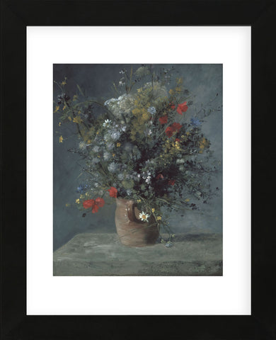Flowers in a Vase, c. 1866  (Framed) -  Pierre-Auguste Renoir - McGaw Graphics