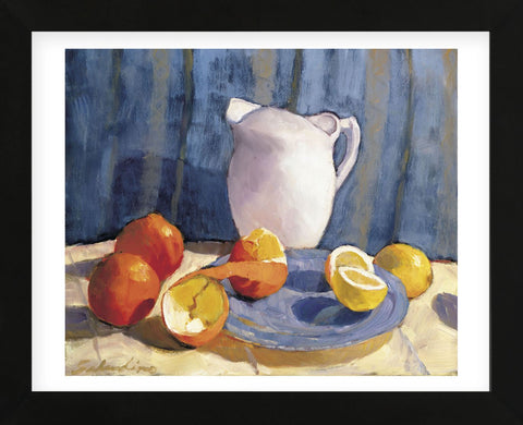 Pitcher with Tangelos and Lemons (Framed) -  Tony Saladino - McGaw Graphics