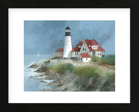 Portland Light, Maine (Framed) -  Albert Swayhoover - McGaw Graphics