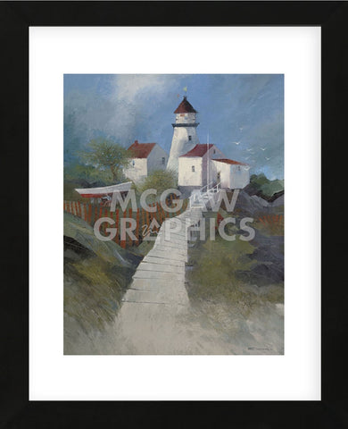 Path to the Lighthouse  (Framed) -  Albert Swayhoover - McGaw Graphics