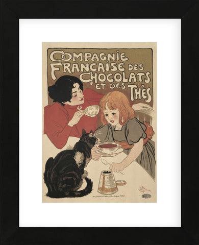 Compagnie Francaise des Chocolats  (Framed) -  Theophile-Alexandre Steinlen - McGaw Graphics