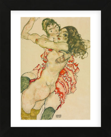 Egon Schiele - Two Women Embracing