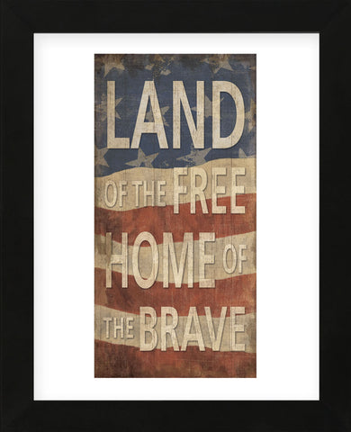 Land of the Free Home of the Brave (Framed) -  Sparx Studio - McGaw Graphics