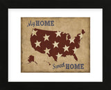 My Home Sweet Home USA Map (Framed) -  Sparx Studio - McGaw Graphics