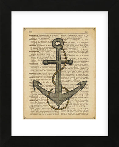 Nautical Series - Anchor (Framed) -  Sparx Studio - McGaw Graphics