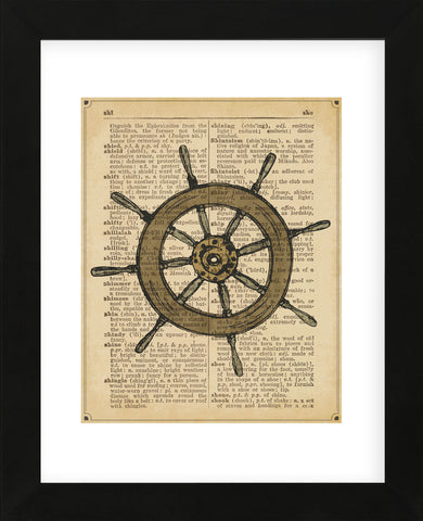 Nautical Series - Ship Wheel (Framed) -  Sparx Studio - McGaw Graphics