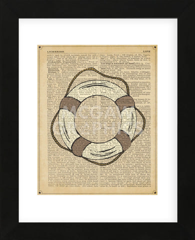Nautical Series - Life Preserver (Framed) -  Sparx Studio - McGaw Graphics