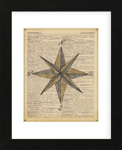 Nautical Series - Nautical Star (Framed) -  Sparx Studio - McGaw Graphics
