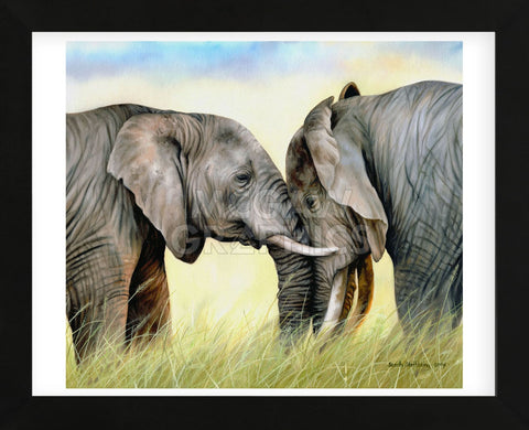 African Elephants (Framed) -  Sarah Stribbling - McGaw Graphics