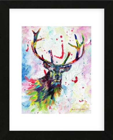Color Stag (Framed) -  Sarah Stribbling - McGaw Graphics