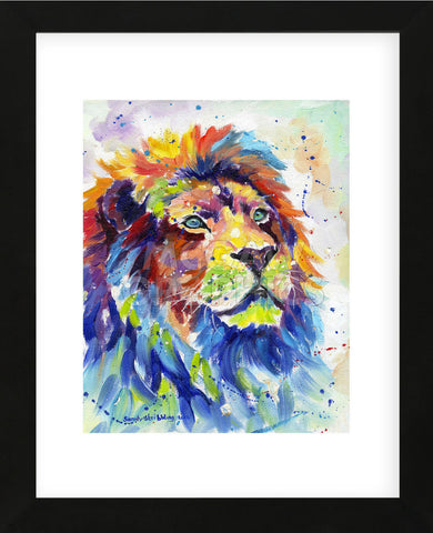 Colorful African Lion (Framed) -  Sarah Stribbling - McGaw Graphics