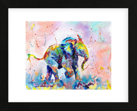 Colorful Elephant (Framed) -  Sarah Stribbling - McGaw Graphics