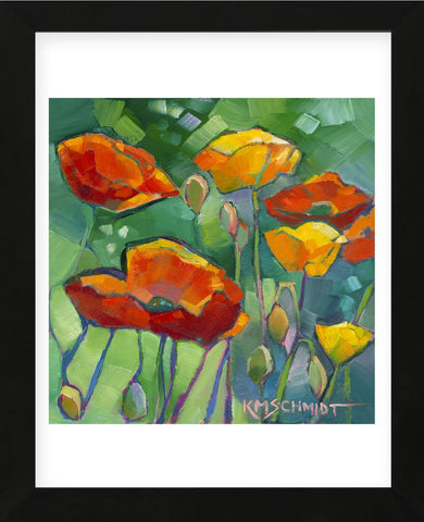 Poppy Dance (Framed) -  Karen Mathison Schmidt - McGaw Graphics