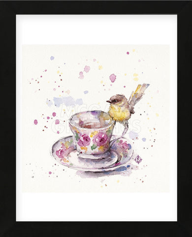 Tea Time (Eastern Yellow Robin) (Framed) -  Sillier than Sally - McGaw Graphics