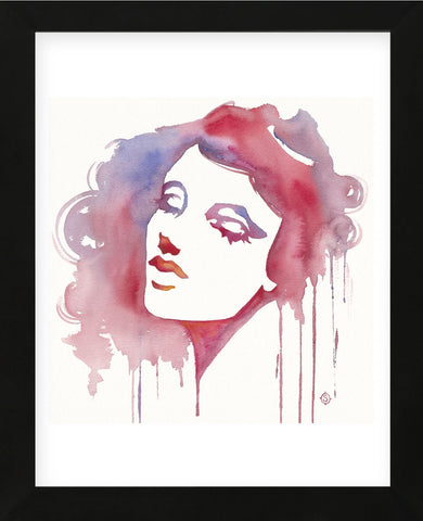 So She Flows (Watercolor portrait) (Framed) -  Sillier than Sally - McGaw Graphics