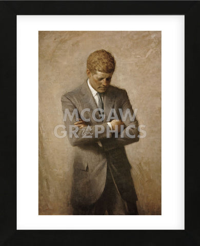 JFK (Framed) -  Aaron Shikler - McGaw Graphics