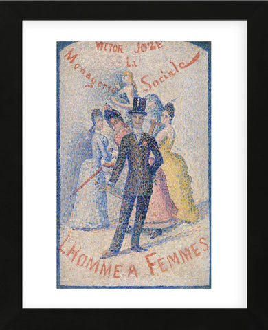 The Ladies' Man (L'Homme à femmes), 1890 (Framed) -  Georges Seurat - McGaw Graphics
