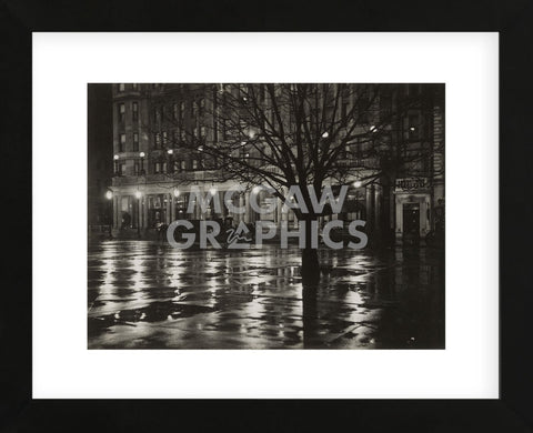 Reflections—Night (New York), 1897 (Framed) -  Alfred Stieglitz - McGaw Graphics