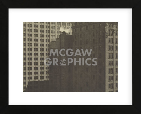 Manhatta - Skyscrapers in Shadows, Negative date: 1920 (Framed) -  Charles Sheeler - McGaw Graphics