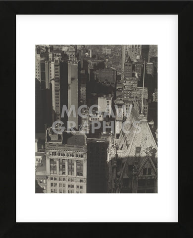 New York, Temple Court, distant view, Negative date: 1920 (Framed) -  Charles Sheeler - McGaw Graphics
