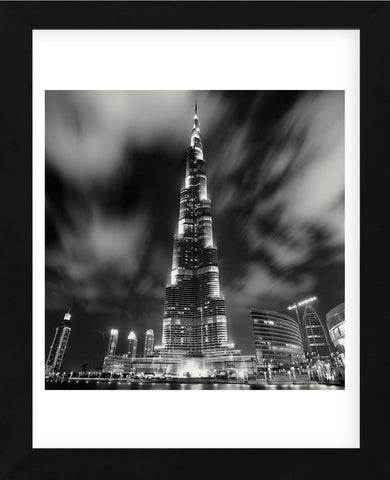 Burj Kahlifa at Night, Study 1, Dubai, UAE (Framed) -  Marcin Stawiarz - McGaw Graphics