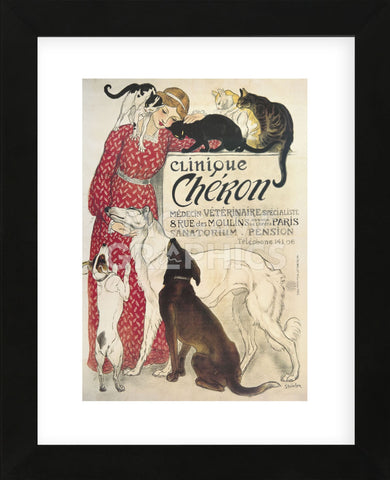 Clinique Cheron  (Framed) -  Theophile-Alexandre Steinlen - McGaw Graphics