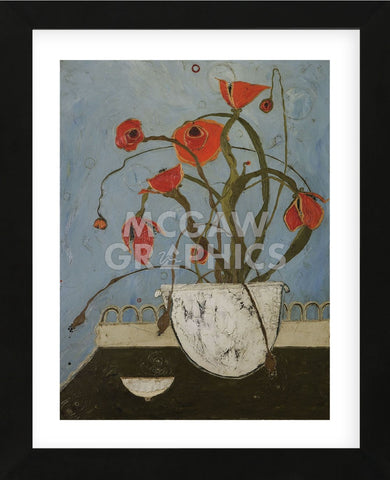 Poppies on Pastry Cart (Framed) -  Karen Tusinski - McGaw Graphics
