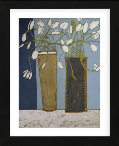 Elongated Vases with White Tulips (Framed) -  Karen Tusinski - McGaw Graphics