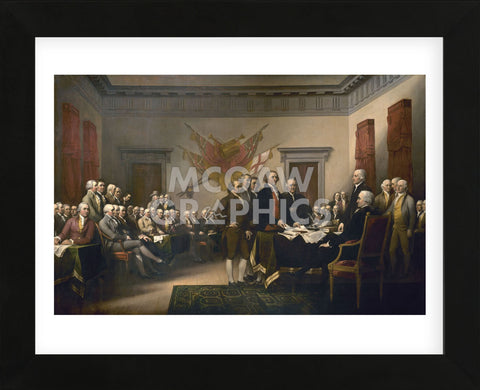Declaration of Independence (Framed) -  John Trumbull - McGaw Graphics