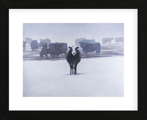 Cows in the Snow (Framed) -  Todd Telander - McGaw Graphics