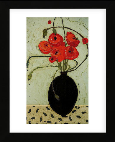 Swirling Poppies (Framed) -  Karen Tusinski - McGaw Graphics
